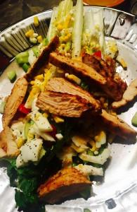 Salad Art.   Looks as good as it tastes.